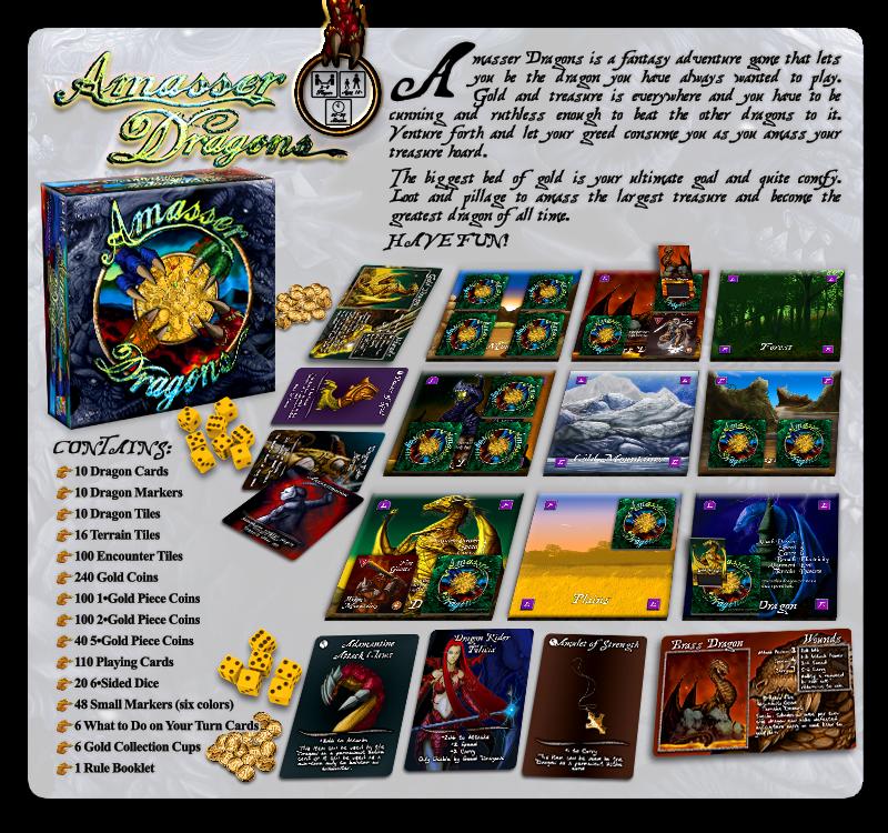 Custom Fantasy Adventure Game: Amasser Dragons